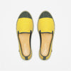 Classic Slip-On Lemon Femme ANGARDE coton summer sunrise jaune citron vue dessus