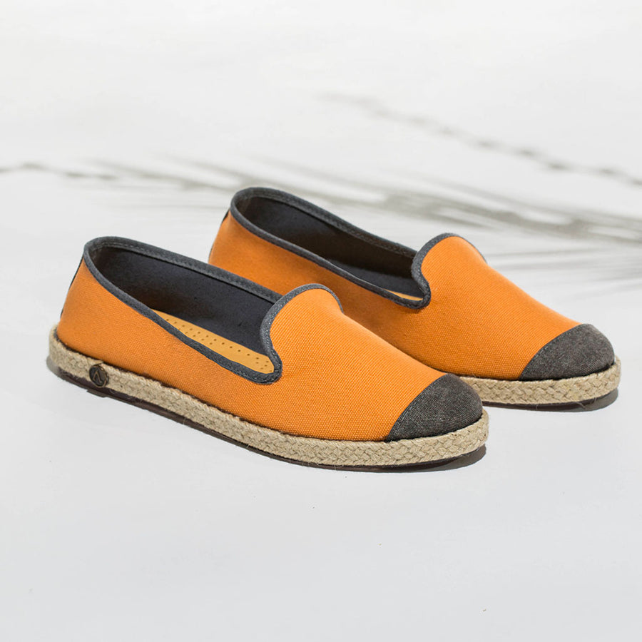 Classic Slip-On Orange Femme ANGARDE cotton summer sunrise orange casual chic