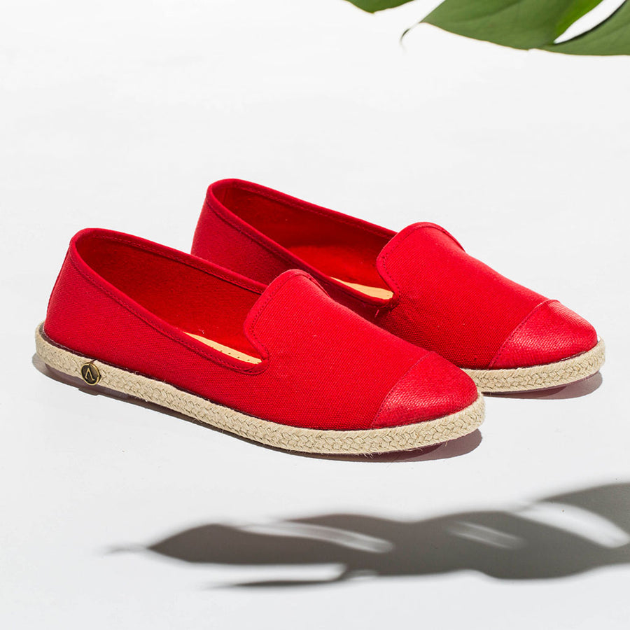 Classic Slip-On red Femme ANGARDE coton summer sunrise rouge casual chic