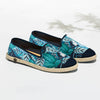 Collab Slip-On Feuille FORGET ME NOT femme ANGARDE coton summer sunrise imprimé feuille vue biais