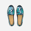 Collab Slip-On Feuille FORGET ME NOT femme ANGARDE coton summer sunrise imprimé feuille vue dessus