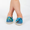 Collab Slip-On Perroquet FORGET ME NOT Enfant ANGARDE coton imprimé bleu vert d'eau jaune confortable