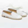 Leather Slip-On Cuir White Homme ANGARDE summer afterwork blanc vue biais