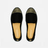Exclusive Slip-On Bronte Black femme ANGARDE coton summer afterwork bout doré tresse noir vue dessus