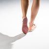 Exclusive Slip-On Bronte Salmon femme ANGARDE coton summer afterwork saumon bout doré confortable