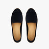 Exclusive Slip-On Kings Black femme ANGARDE coton summer afterwork noir bout façon python vue dessus