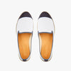 Exclusive Slip-On Kings Creme femme ANGARDE coton summer afterwork blanc bout gris façon python vue dessus