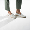 Leather Slip-On Cuir White Homme ANGARDE summer afterwork blanc casual chic