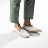 Leather Slip-On White Homme ANGARDE leather summer afterwork blanc casual chic