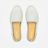 Leather Slip-On Cuir White Homme ANGARDE summer afterwork blanc vue dessus