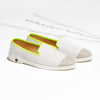 Leather Slip-On Trial Homme ANGARDE leather summer afterwork blanc et jaune vue biais