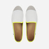Leather Slip-On Cuir Trial Homme ANGARDE summer afterwork blanc et jaune vue dessus