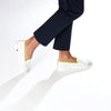 Leather Slip-On Trial Homme ANGARDE leather summer afterwork blanc et jaune casual chic