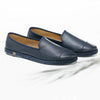 Leather Slip-On Cuir Dark Blue Homme ANGARDE summer afterwork bleu nuit vue biais
