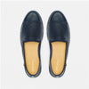 Leather Slip-On Cuir Dark Blue Homme ANGARDE summer afterwork bleu nuit vue dessus