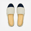 Leather Slip-On Dual Homme ANGARDE leather summer afterwork beige et marine vue dessus