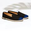 chaussures été Leather Slip-On Homme Angarde Porto-Novo Bleu collab BlackHats paris cuir perforé noir wax casual biais