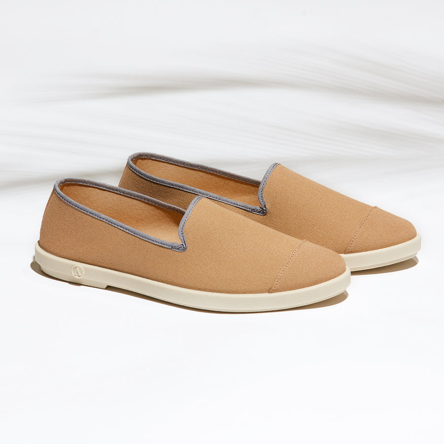 Street Slip-On Hazelnut Homme ANGARDE coton summer afterwork beige casual chic