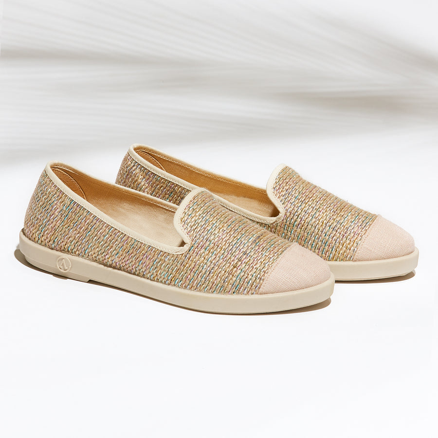 Street Slip-On Whitehaven femme ANGARDE raphia coton beige summer afterwork casual chic