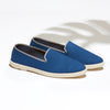 Street Slip-On Steel Blue Homme ANGARDE cotton summer afterwork bleu vue biais
