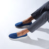 Street Slip-On Steel Blue Homme ANGARDE cotton summer afterwork bleu casual chic
