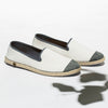 Sunny Slip-On Cream Homme ANGARDE coton summer sunrise blanc biais
