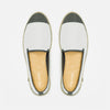 Sunny Slip-On Cream Homme ANGARDE coton summer sunrise blanc vue de dessus