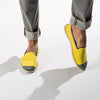 Sunny Slip-On Lemon Homme ANGARDE coton summer sunrise jaune porté