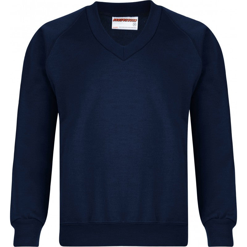 V-Neck Sweatshirt - Higham St Johns - School Brands