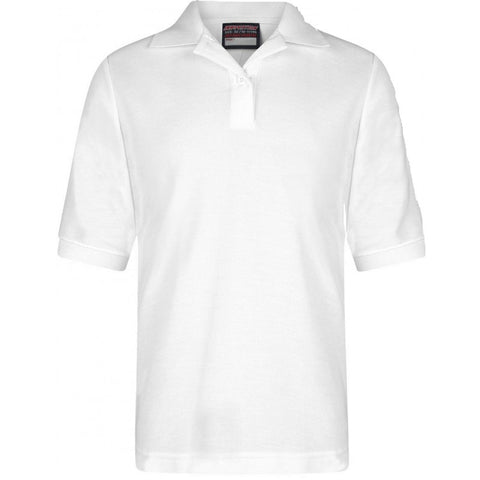 GIRLS Plain Fitted Polo Shirts in White - School Brands
