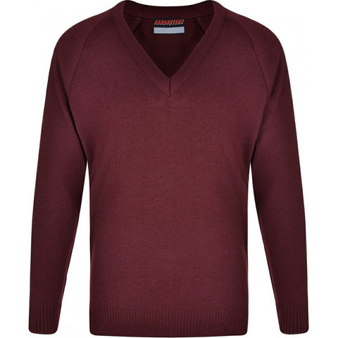 Plain Knitted V Neck No-Iron Jumper (Various Colours) - School Brands