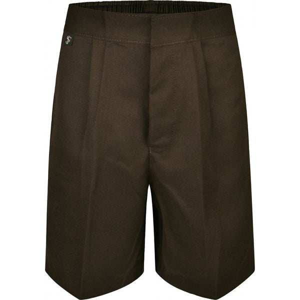 BOYS Shorts  (in Black/Brown/Grey/Navy) - School Brands