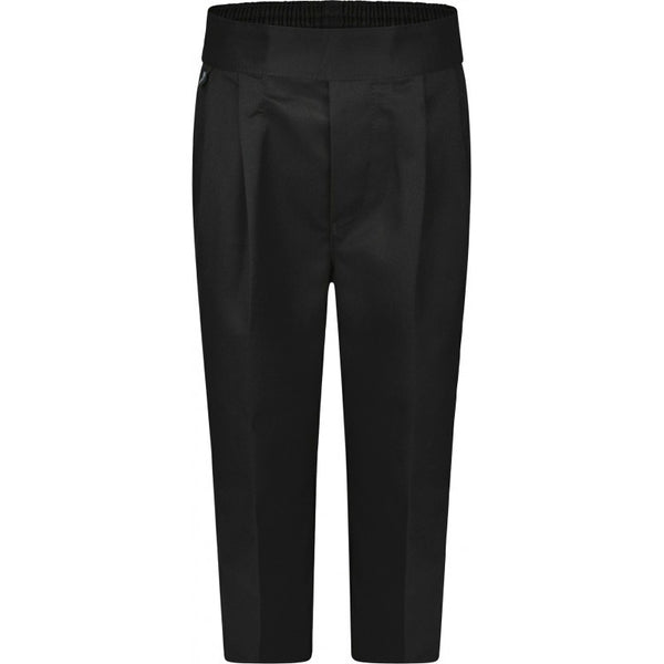 BOYS Pull-On Trousers (in Black/Charcoal/Grey/Navy) - School Brands