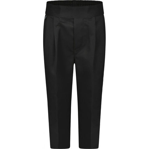 BOYS Pull-On Trousers (in Black/Charcoal/Grey/Navy)