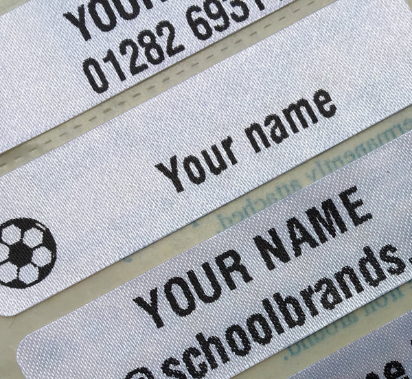 2 x IRON-ON NAME LABELS - School Brands