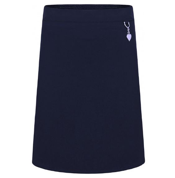 Girls Stretch Heart Skirts in Black, Grey and Navy - School Brands