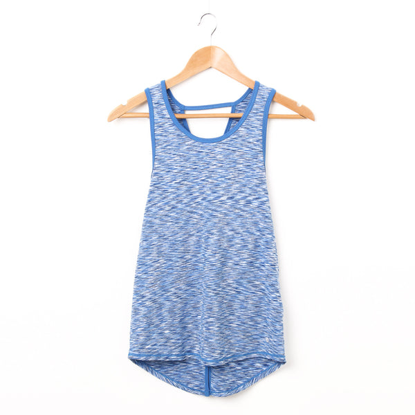 Cross Back Tank Top - Blue