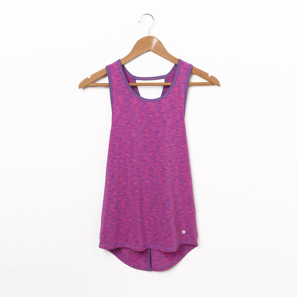 Cross Back Tank Top - Purple