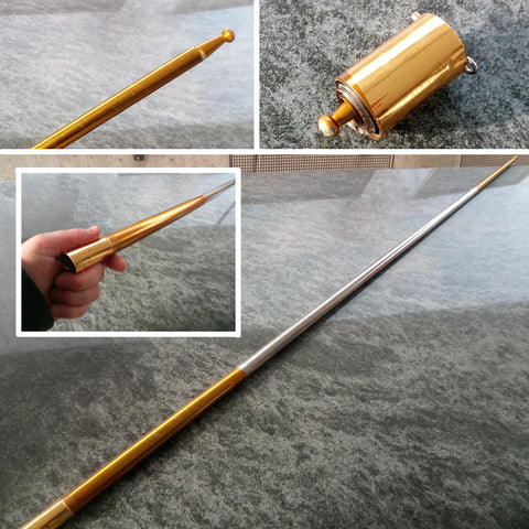 Amazing Collapsible Metal Cane/Staff Several Colors And