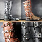 1 Pair PU Leather Boot Covers