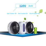 2 Motors Summer Couples Air Conditioner USB Fan Ventilator