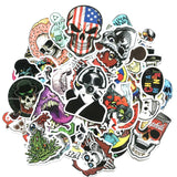 50 Pcs Horror & Skull Sticker Collection