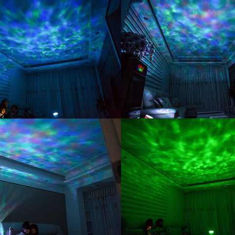 Colorful Ocean Waves LED Projector With Audio Functions