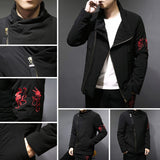 Anime Ninja Style Side Cut Winter Jackets