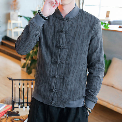 Cozy Chinese Style Button Jacket