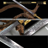 Heavy Chinese Longquan Carbon Steel Swords Not Sharpened