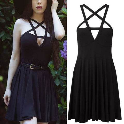 Pentagram Dress Black Or Blue