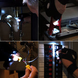 Fingerless Neoprene Glove LED Flashlight