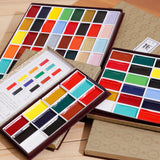 Professional Finest Quality Japanese Sumi-e Watercolor Sets 12/18/24/35/48/60