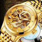 Amazing Stainless Steel Dragon Watches